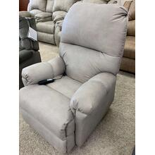 Stanton Power Recliner in Diversey Platinum . 100% Polyester . CC:  WS