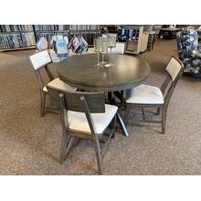 Round Table with Luxe Soho Chairs in Pewter