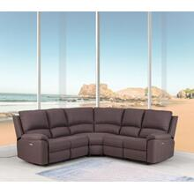 See Details - 9241 - Brown Power Reclining Sectional