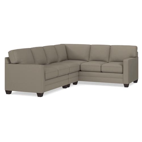Bassett Furniture - Alex Track Arm Left Sectional - Fog