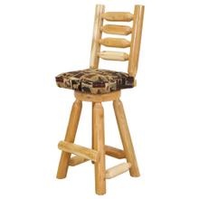 "W317  30"" Swivel Barstool with Ladder Back & Upholstered Seat"