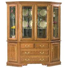 "66"" Bay Front  Hutch, Touch Light Mirror Back, Felt Lined Drawers"