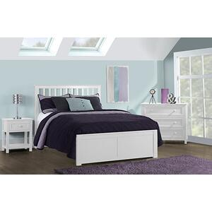 Full Marley Mission Bed White