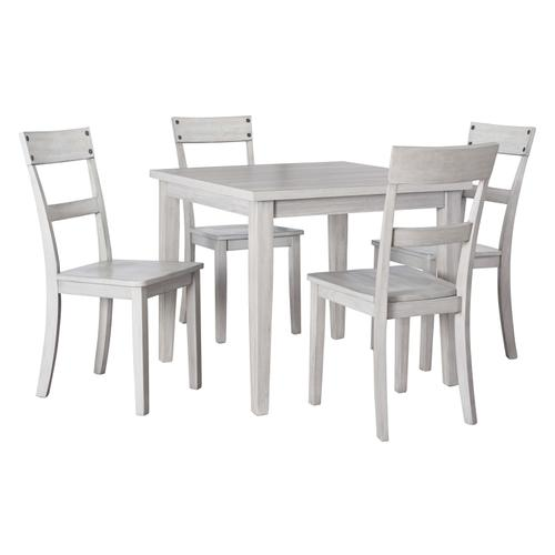 Loratti - Gray - Square Dining Room Table and 4 Side Chairs