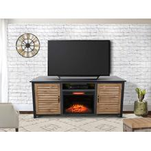 """View Product - Tahoe 73"""" TV Stand with Fireplace - Golden Maple"""