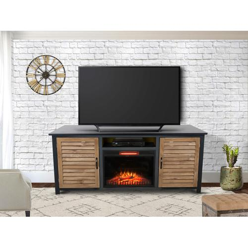 "Tahoe 73"" TV Stand with Fireplace - Golden Maple"