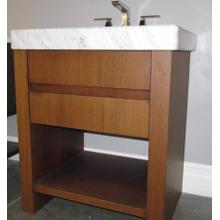 Custom made bathroom vanity with marble top