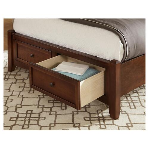 Vaughan-Bassett - King Cherry Mansion Storage Bed