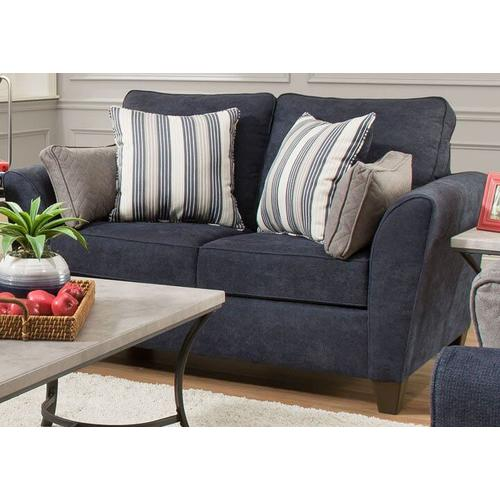 UNITED 2162AC 7081 Zulu Indigo Accent Chair