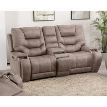 LIFESTYLE U80143-42 Canyon Gray Power Reclining Console Loveseat