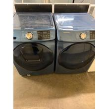 Refurbished Samsung Blue Washer Dryer Set. Please call store if you would like additional pictures. This set carries our 6 month warranty, MANUFACTURER WARRANTY AND REBATES ARE NOT VALID (Sold only as a set)