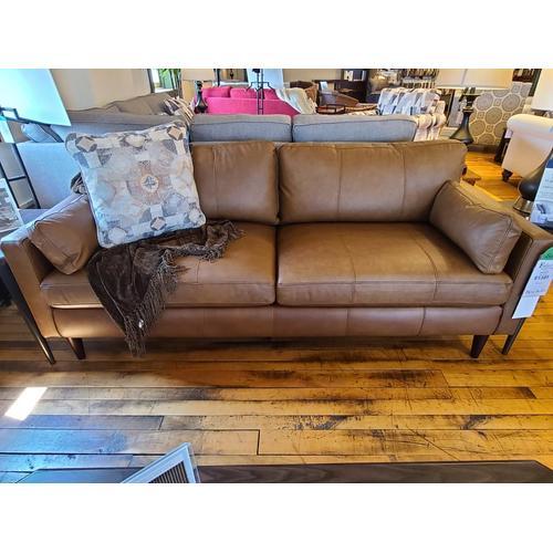 Best Home Furnishings - Trafton Sofa - Rust Leather
