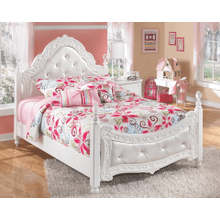 Exquisite- White- Full Poster Bed