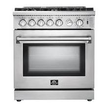 See Details - FORNO Lseo 30-in 5 Burners 4.23-cu ft Convection Oven Freestanding Gas Range (Stainless Steel)