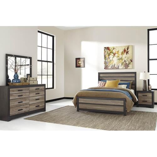 Harlinton - Warm Gray/Charcoal 4 Piece Bedroom Set