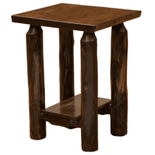 View Product - Vintage Cedar Log Open Nightstand