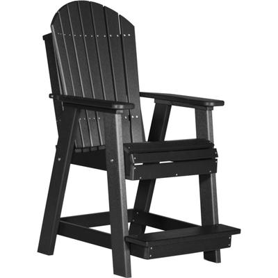 Adirondack Balcony Chair Black