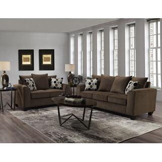 See Details - Collin Espresso 2PC Set: Sofa & Loveseat (1220)