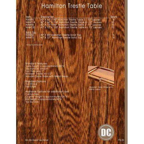 Hamilton Table
