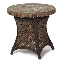 """24"""" Round End Table Stone Top"""