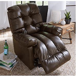 Best Home Furnishings - BROSMER POWER ROCKER RECLINER w/POWER TILT HEADREST in Cocoa      (9MZ87-20576,39906)