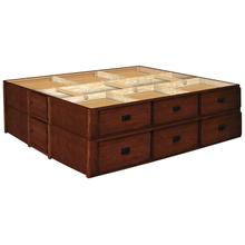 28 Inch Oak 12 Drawer Mission Creek Double Stacked Pedestals Available in King and Queen
