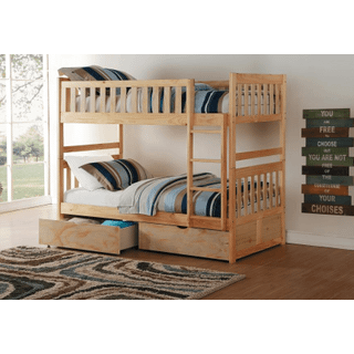 Bartly Bunk Bed Twin on Twin with Storage Drawers