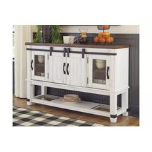 See Details - Ashley Valebeck White and Brown Server
