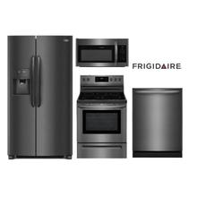 Frigidaire Gallery Black Stainless Steel Kitchen Package w/Side by Side Refrigerator