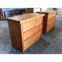 Shaker Night Stands in Alder Wood with Stain