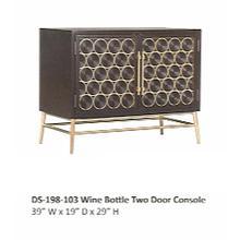 Wine Bottle 2 Door Console