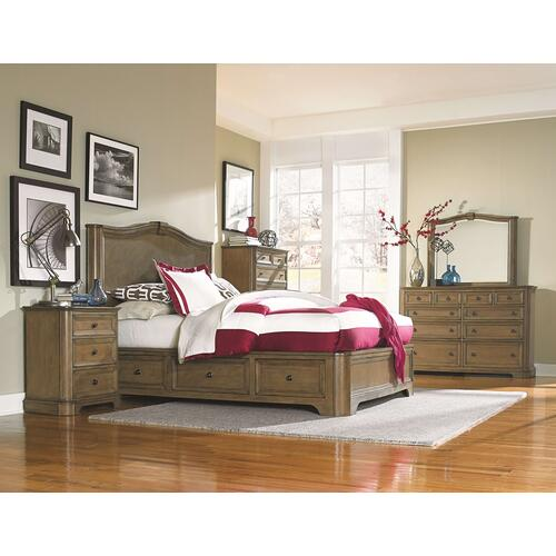 RGB Stonewood Queen Storage Bed Rustic Glazed Brown Finish