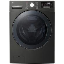 See Details - 4.5 cu. ft HE Ultra Large Smart Front Load Washer with TurboWash360, Steam & Wi-Fi in Black Steel