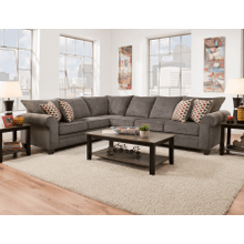 2 Piece Corner Sectional - Albany Pewter