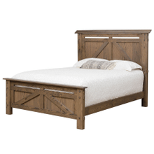See Details - Farmstead King Bed with Reading Lights (Available in a Variety of Colors and Wood Stains)