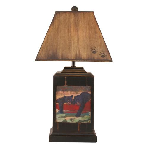 Coast Lamps - Cubs in Canoe Table Lamp