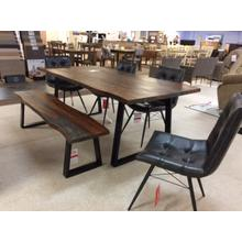See Details - Table with four chairs and bench