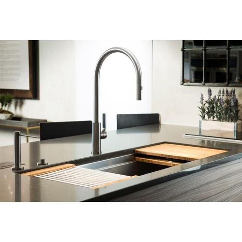 The Galley Tap - Galley Soap Dispenser in PVD Gun Metal Gray Stainless Steel