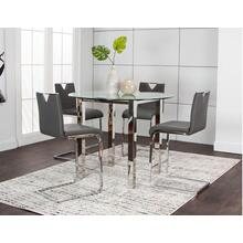 Tomasso Chrome Charcoal  Dining Room Set