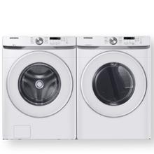 SAMSUNG 4.5 cu. ft. Front Load Washer with Vibration Reduction Technology  & 7.5 cu. ft. Electric Dryer with Sensor Dry- Open Box