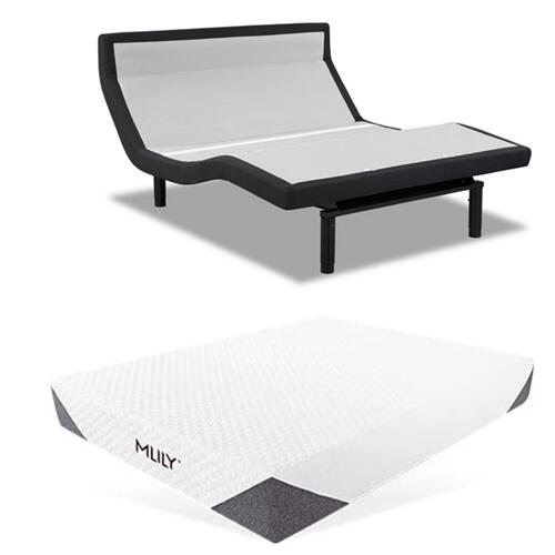 Leggett & Platt Prodigy PT Adjustable Bed with Mlily Cool Gel Hybrid Mattress