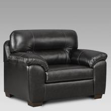 See Details - Austin Black Chair and 1/2