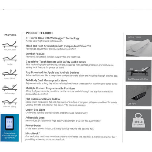 Leggett & Platt Prodigy Comfort Elite w/ Choice of Boyd Cool Gel Memory Foam Mattress