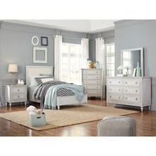 Sarah Full Bedroom Set: Full Panel Bed, Nightstand, Dresser & Mirror