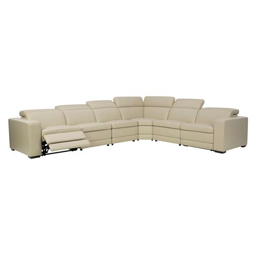 Texline - Sand  2 Power Recliner Leather Sectional