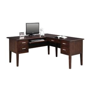 Koncept Chocolate Desk with Return