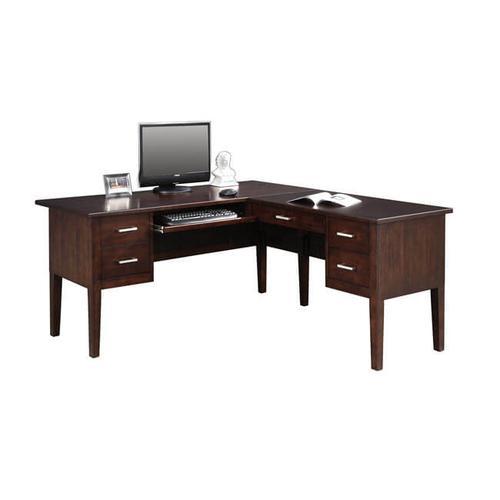 Koncept Chocolate Desk with Return