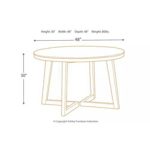 Besteneer - Dark Gray - 5 Pc. - Round Table & 4 Upholstered Side Chairs