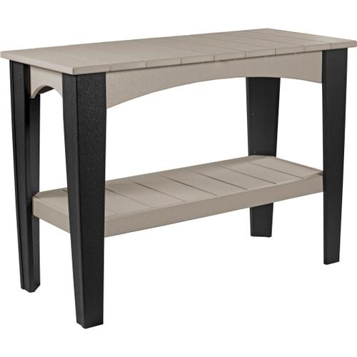 Island Buffet Table Weatherwood and Black