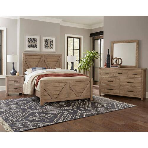 Vaughan-Bassett - Highlands 3-Piece Queen Size Bed in Sandstone Finish